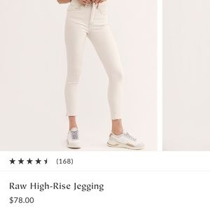 Free People Raw High Rise Jegging NWT